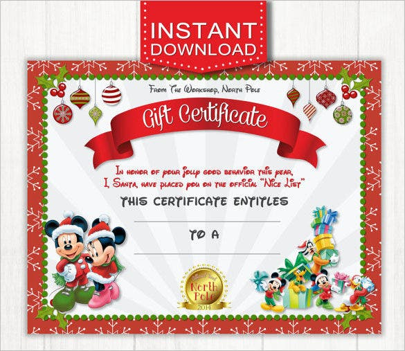20+ Christmas Gift Certificate Templates – Free Sample ...