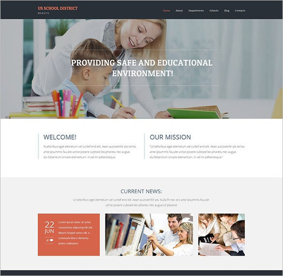 education bootstrap theme for primary school