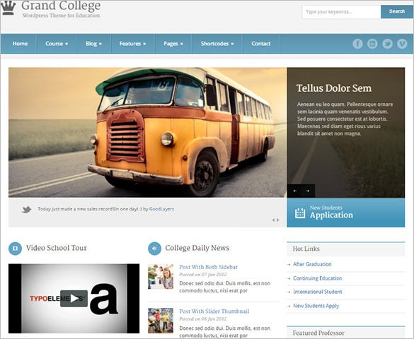 education php theme for college