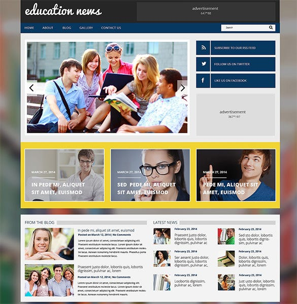 premium education responsive php theme