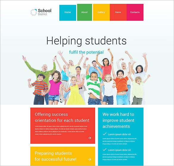 school district php theme download