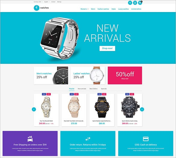 watch business prestashop theme
