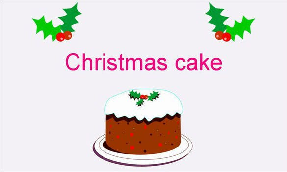 christmas cake template presentation download
