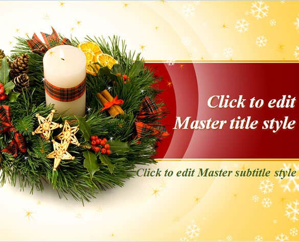 Christmas Powerpoint Templates  Free Ai Illustrator Psd Pptx