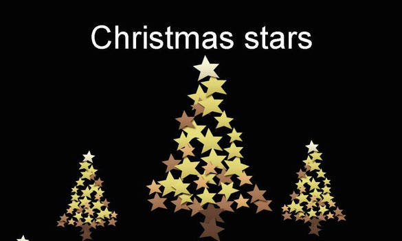 christmas stars template presentation free download