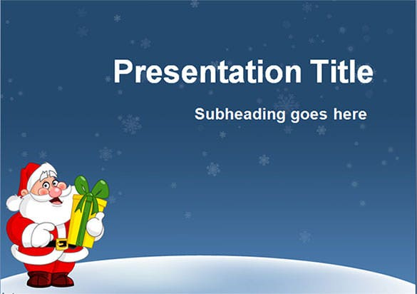 Free Christmas Powerpoint Template Template Download  Christmas Template Free