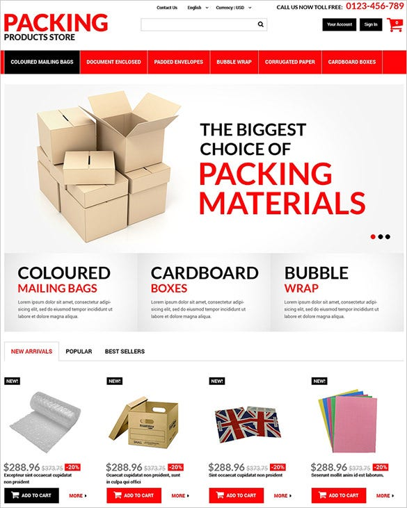packing business prestashop theme