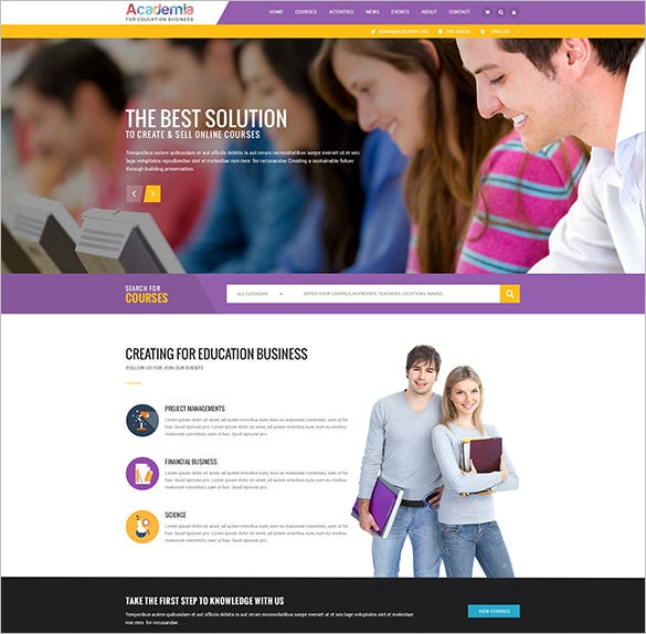 education course event psd template