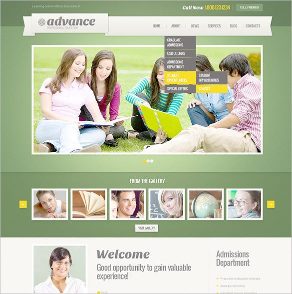 premium education psd template