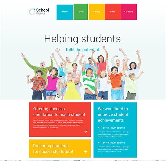 education psd template for district school