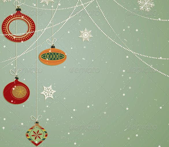 christmas ornaments snowflake background ai format