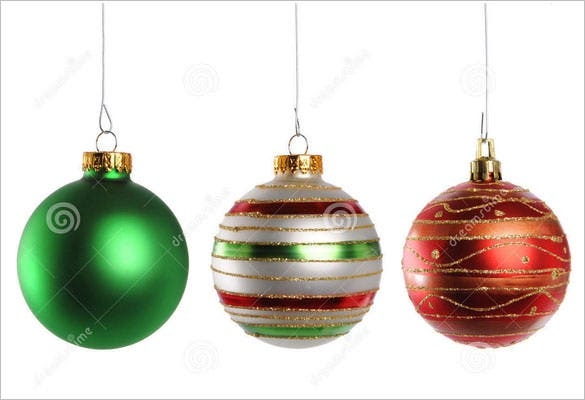 colorful christmas ornaments template download