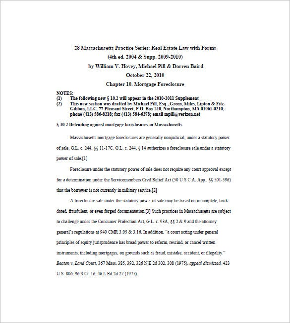 Defending Against Mortgage Foreclosures Promissory Note  Mortgage Note Template