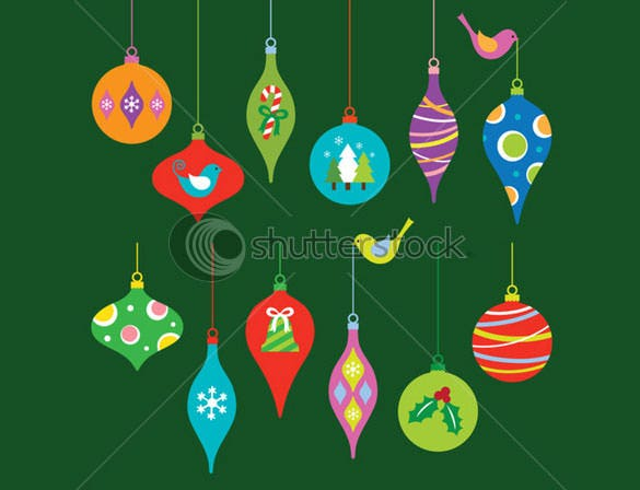 vector illustration colorful christmas ornament template