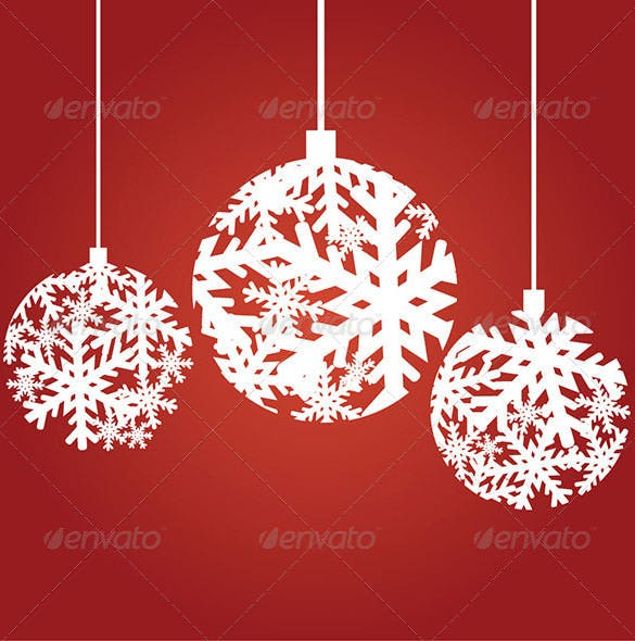 snowflake christmas ornaments eps download