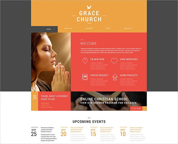 church organization wordpress template