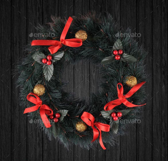 christmas door ornament psd design