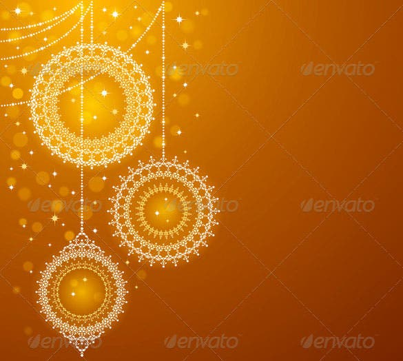 christmas ornaments on golden background eps download