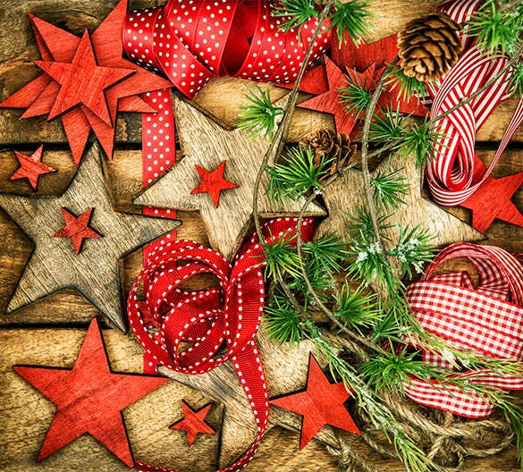 premium christmas ornaments with ribbons jpeg