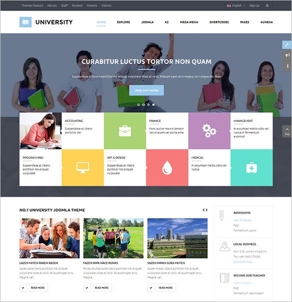 multipurpose education joomla template