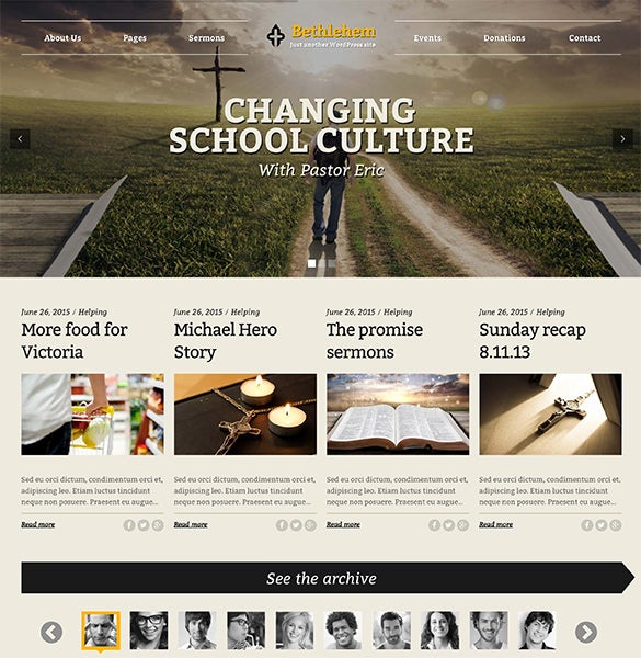 pretty church wordpress template