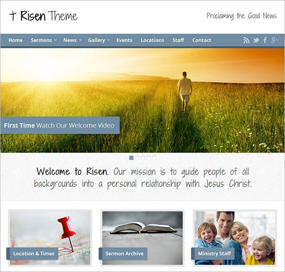 premium church wordpress theme