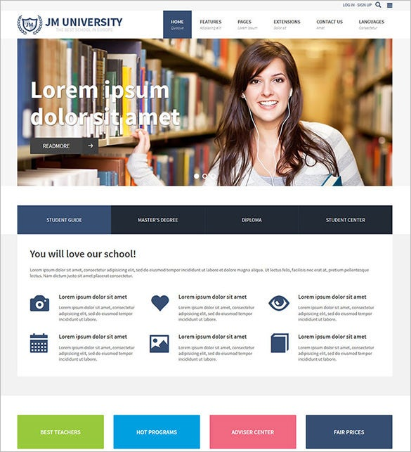 premium multipurpose education joomla template