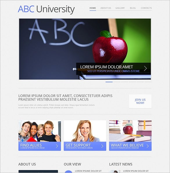education joomla template for university