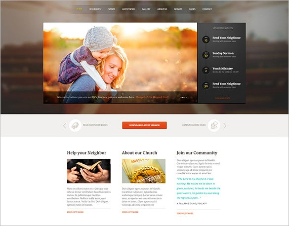perfect church wordpress theme