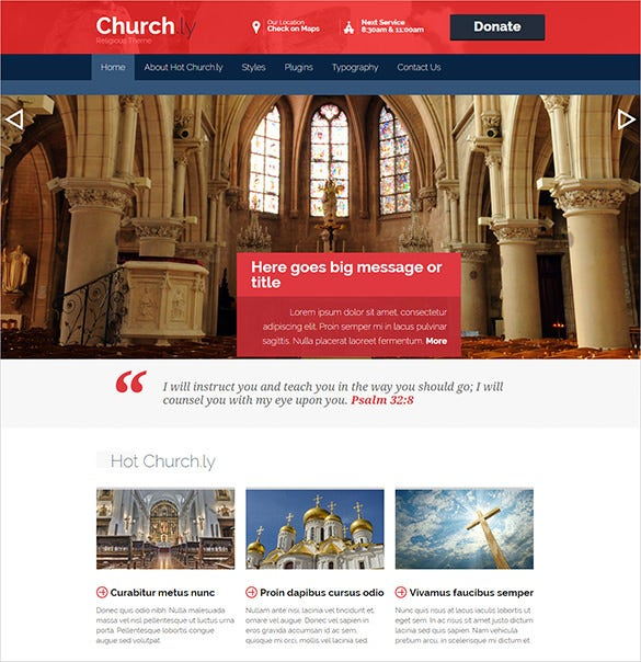 premium responsive church wordpress theme