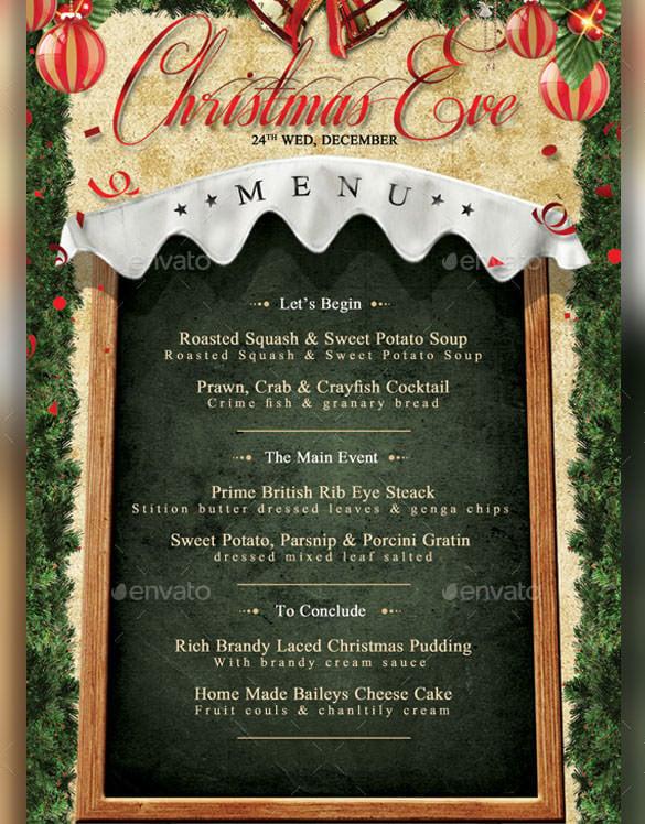 christmas menu template  u2013 30  free psd  eps  ai