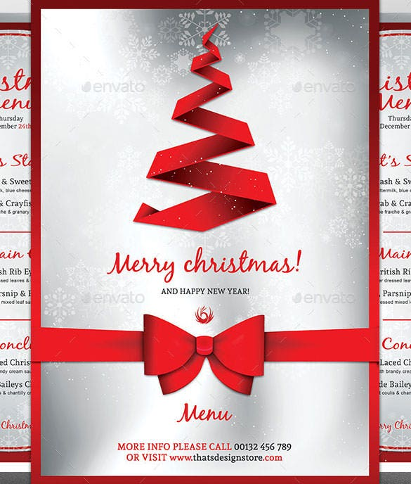 holiday luncheon flyer template