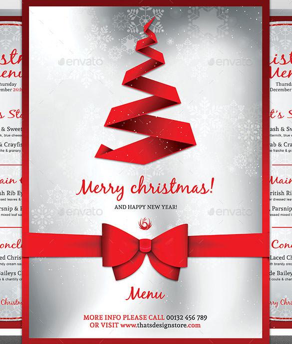 Christmas Menu Template – 30+ Free PSD, EPS, AI, Illustrator, Word ...