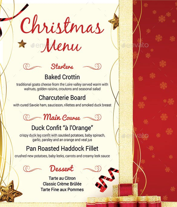 Christmas Menu Card Template] Christmas Menu Card Template Free ...