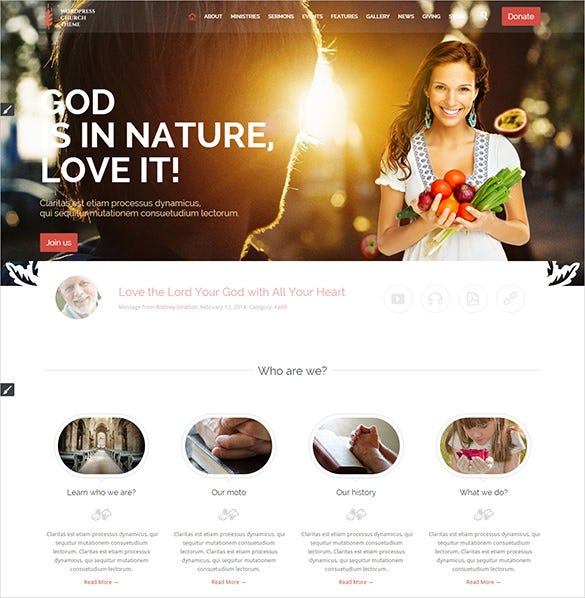 luxurious church wordpress theme
