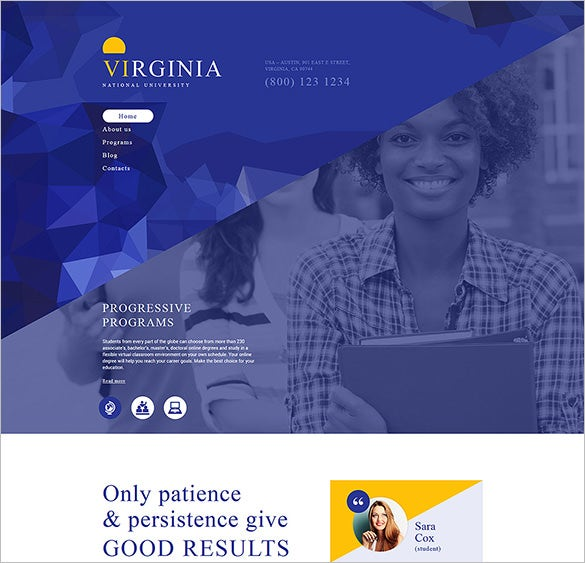 national university education drupal template
