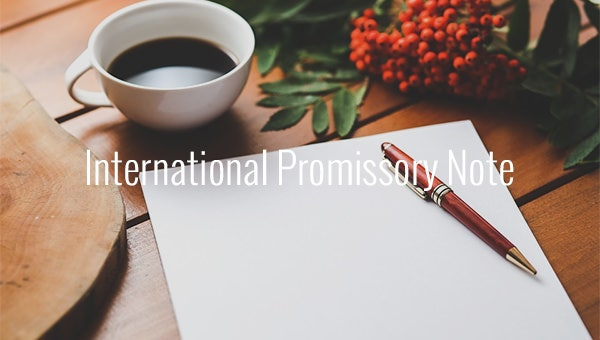 international promissory note.