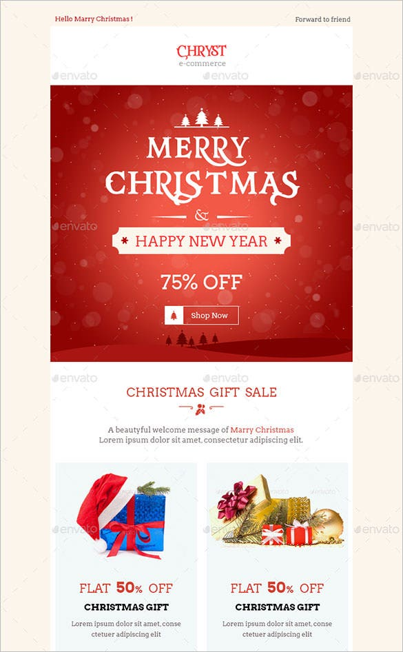 Photoshop newsletter templates 38 christmas email newsletter.