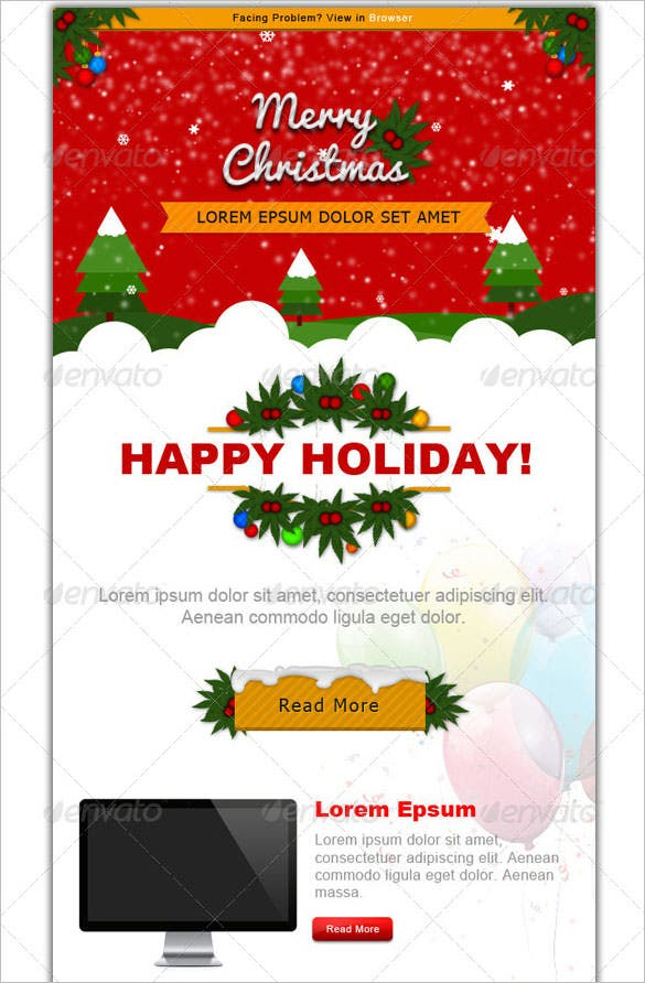 Christmas emails templates selol ink 38 christmas email newsletter templates free psd eps ai html maxwellsz
