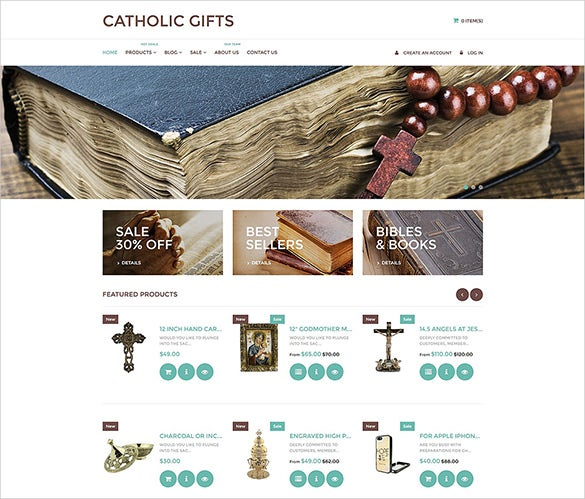 catholic church html5 theme