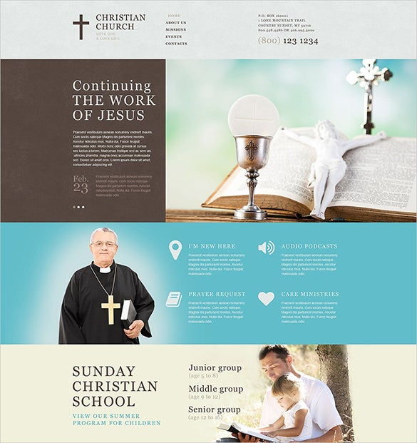 christian church html5 theme