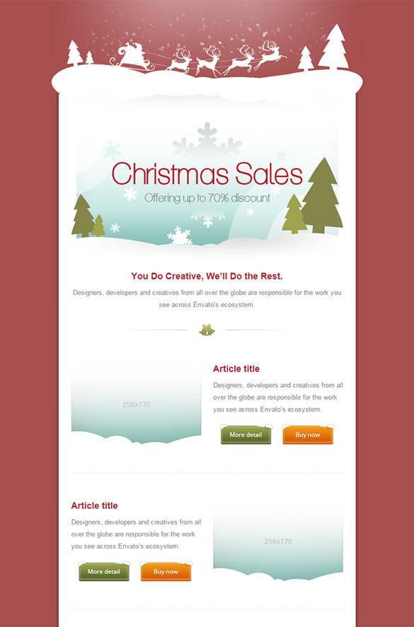 70+ Christmas Email Templates - Free PSD, EPS, AI, HTML ...