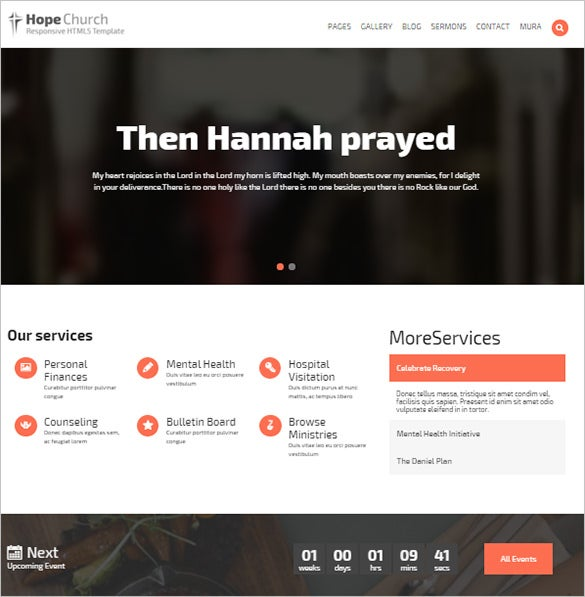 hope church html5 template