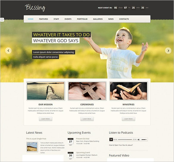 blessing church html5 theme
