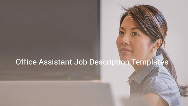 office assistant job description template