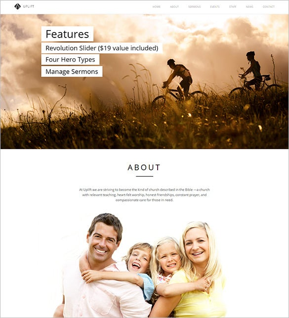 featured church html5 template
