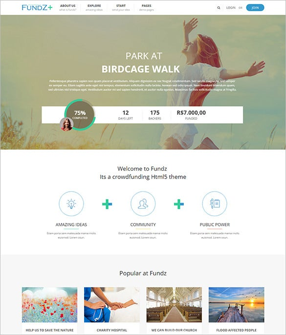 non profit church html5 template