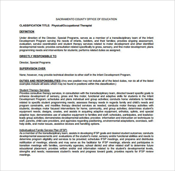 Physical Therapy Job Description Josh Crosby Physical Therapy Job