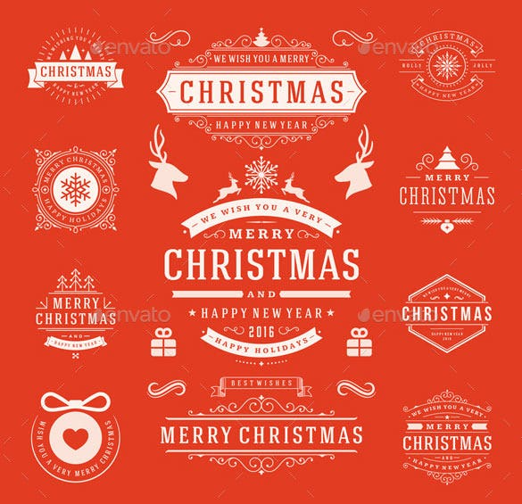 10 christmas labels and badges photoshop psd download