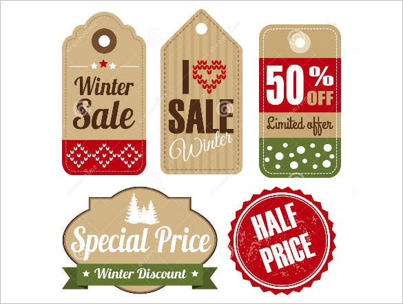 sale winter retor christmas vintage labels